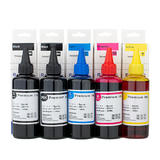 Universal Dye Refill Ink Combo for Canon Printer Cartridges BK/PBK/C/M/Y - 5 x 100ml