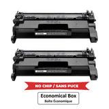 Compatible HP 58A CF258A Black Toner Cartridge - No Chip - Economical Box - 2/Pack