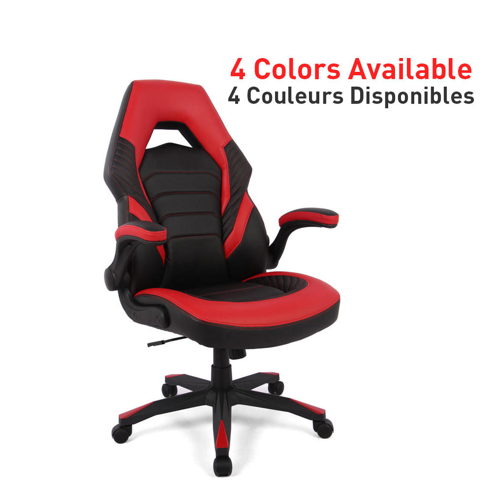 Racing Gaming Chair, Computer Chair with Flip Up Arms - Moustache®