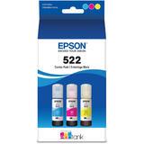 Epson T522 T522520-S Original EcoTank Color Ink Bottle Combo C/M/Y