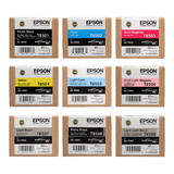 Epson T850 Original UltraChrome Ink Cartridge Combo PBK/C/VM/Y/LC/VLM/LBK/MBK/LLBK