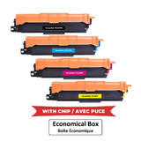 Brother TN227 Compatible Toner Cartridge Combo High Yield BK/C/M/Y - With Chip - Economical Box