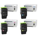 Lexmark C241XK0 C241XC0 C241XM0 C241XY0 Original Return Program Toner Cartridge Extra High Yield