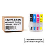 Epson 200 T200XL Empty Refillable Ink Cartridge Combo High Yield BK/C/M/Y with ARC Chip