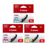 Canon CLI-271XL Original Ink Cartridge Color Combo High Yield C/M/Y (0337C005)