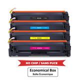 Compatible HP 414A Toner Cartridge Combo BK/C/M/Y - No Chip - Economical Box
