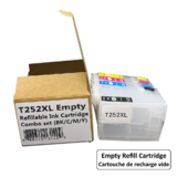 Epson T252XL Empty Refillable Ink Cartridge Combo High Yield BK/C/M/Y with ARC Chip
