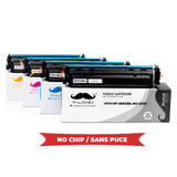 Compatible HP 206X W2110X W2111X W2112X W2113X Toner Cartridge High Yield - No Chip - Moustache®