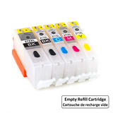 Canon PGI-270XL CLI-271XL Empty Refillable Ink Cartridge Combo High Yield BK/C/M/Y with ARC Chip