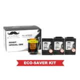 Remanufactured HP 63XL F6U64AN Eco-Saver Black Ink Cartridge High Yield 3PK Combo - Moustache®