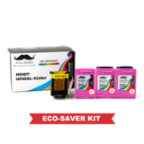 Remanufactured HP 65XL N9K03AN Eco-Saver Tri-Color Ink Cartridge High Yield 3PK Combo - Moustache®