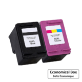 Remanufactured HP 65XL Black and Color Ink Cartridge Combo High Yield - Economical Box