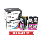 Remanufactured HP 63XL F6U64AN F6U63AN Eco-Saver Ink Cartridge 6PK Combo High Yield - Moustache®