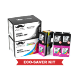 Remanufactured HP 65XL N9K04AN N9K03AN Eco-Saver Ink Cartridge 6PK Combo High Yield - Moustache®