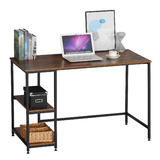 Industrial Reversible Computer Desk with 2 Shelves, Strengthened Frame - Moustache®