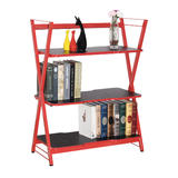 3-Tier Gaming Display Shelves, Home Office Storage Rack, Red  - Moustache®
