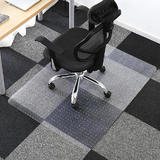 Translucent Chair Mat with Spikes for Carpet, Rectangle, PVC - Moustache®