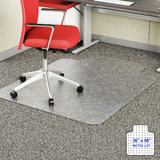 Unbreakable Heavy Duty Polycarbonate Ships Flat Office Chair Mat with Lip for Carpeting-Moustache®