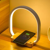 Creative LED Table Lamp with Wireless Charging Pad, Stepless Brightness