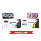 Remanufactured HP 67XL Eco-Saver Ink Cartridge Combo High Yield - 6/Pack - Moustache®