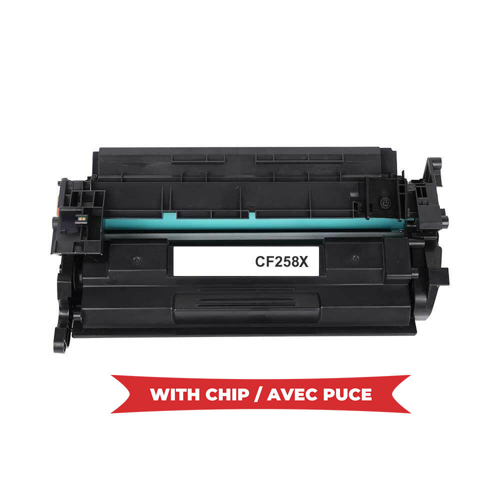 Compatible HP 58X CF258X Black Toner Cartridge High Yield - With Chip