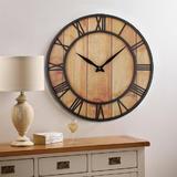 24-Inch Creative Roman Wall Clock, Round, Black