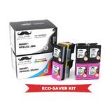 Remanufactured HP 64XL N9J92AN N9J91AN Eco-Saver Ink Cartridge 6PK Combo High Yield - Moustache®