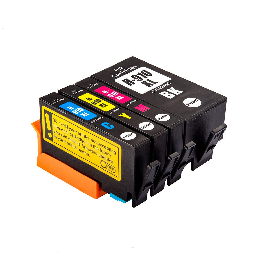Remanufactured HP 910XL Ink Cartridge Combo High Yield BK/C/M/Y