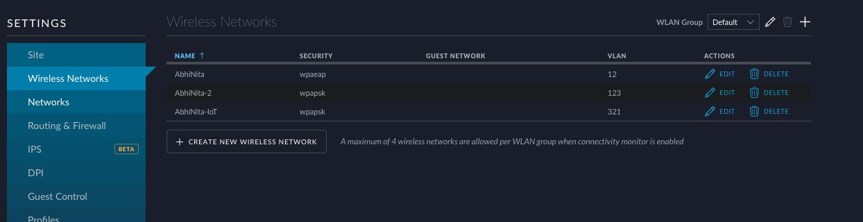 WiFi configuration