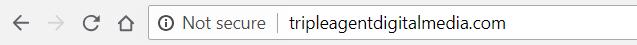 HTTP No SSL Not Secure - Google Chrome 68