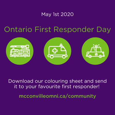 Celebrating Ontario First Responders Day