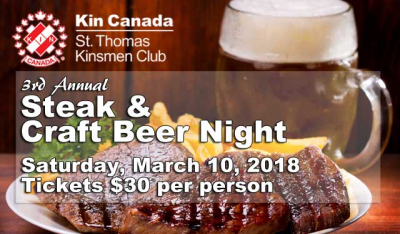 A fun craft beer & steak night supports the work of Cystic Fibrosis Canada