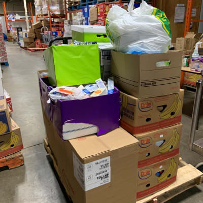 Total donations being dropped off at the London Food Bank