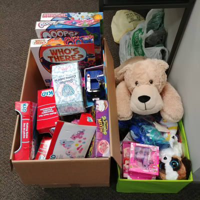 100 toys for the Wawanesa Toy Drive