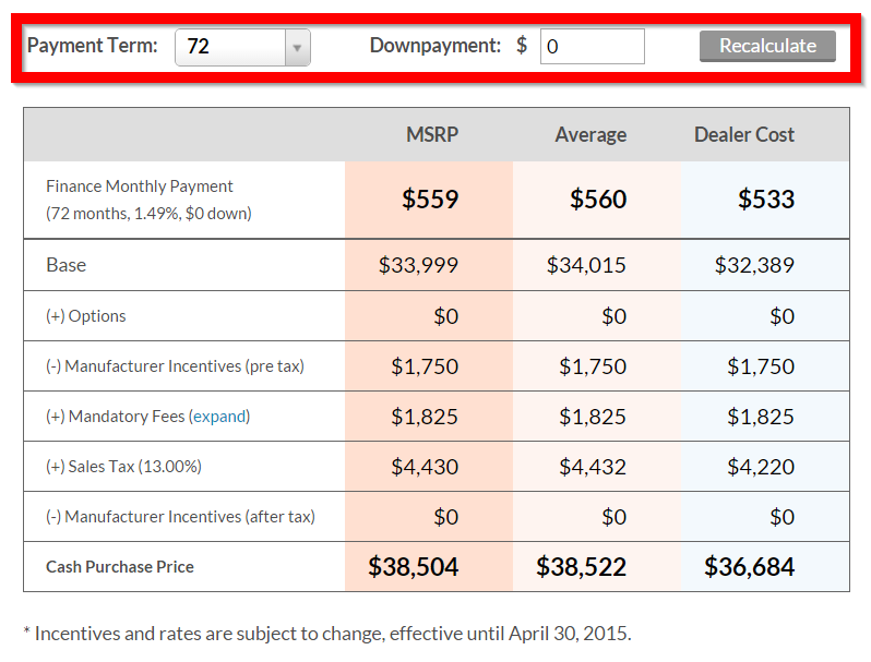 Monthly Payment Calculator