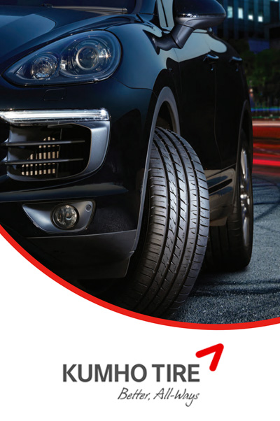 Get a prepaid VISA card up to $100 when you purchase a set of 4 selected Kumho tires