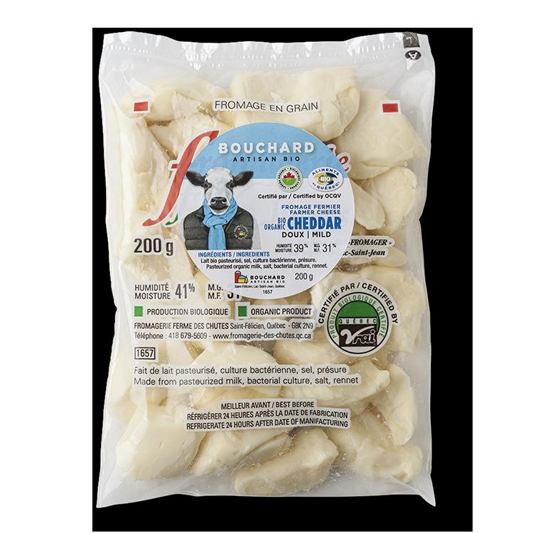 Cheddar doux Bouchard Artisan Bio en Grains