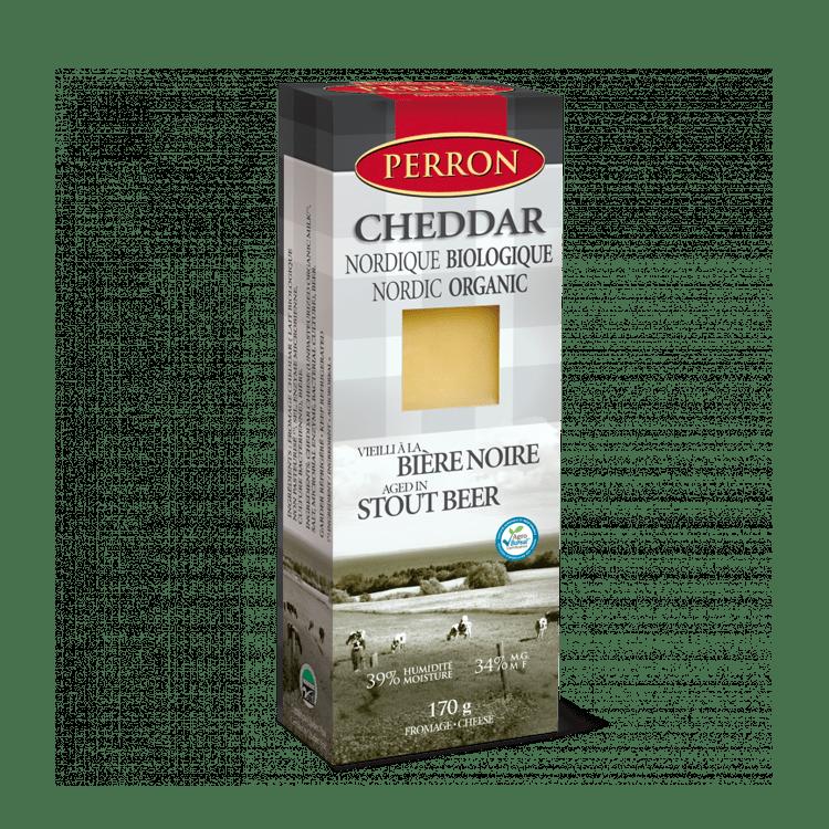 Cheddar Perron Nordique Biologique Vieilli à la Bière Noire