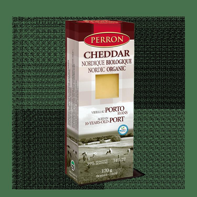 Cheddar Perron Nordique Biologique Vieilli au Porto 10 ans
