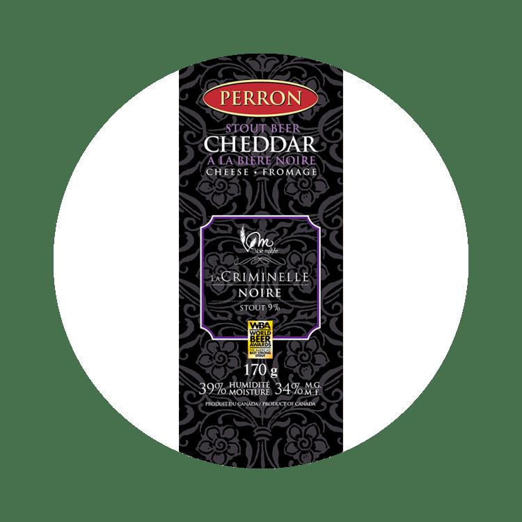 Cheddar Perron à la Bière Noire La Criminelle