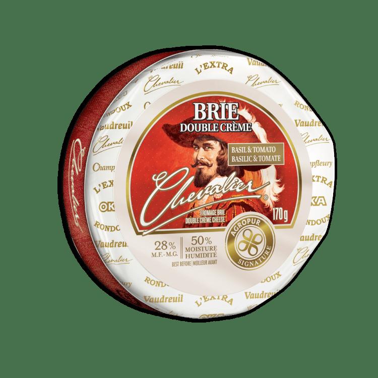Brie Chevalier Double Crème au Basilic et aux Tomates