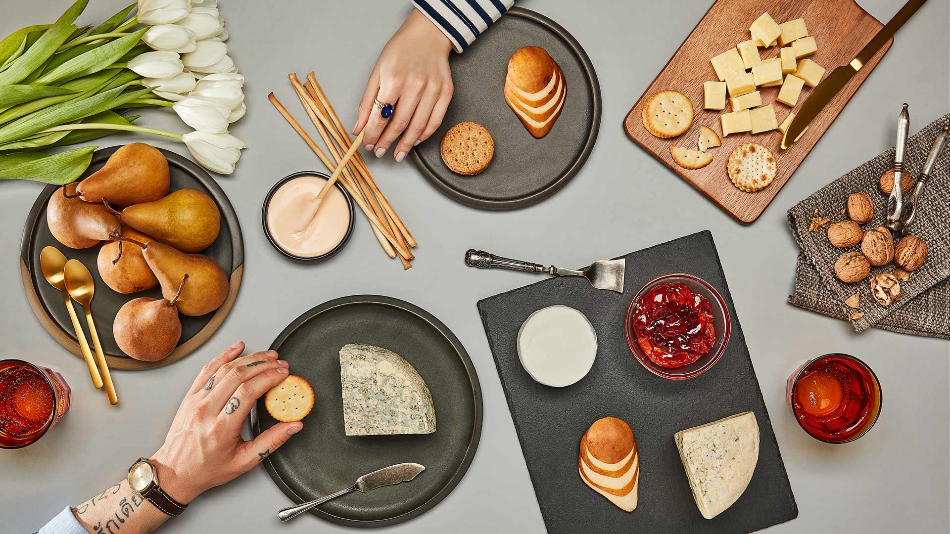 Plateau d'initiation aux fromages bleus