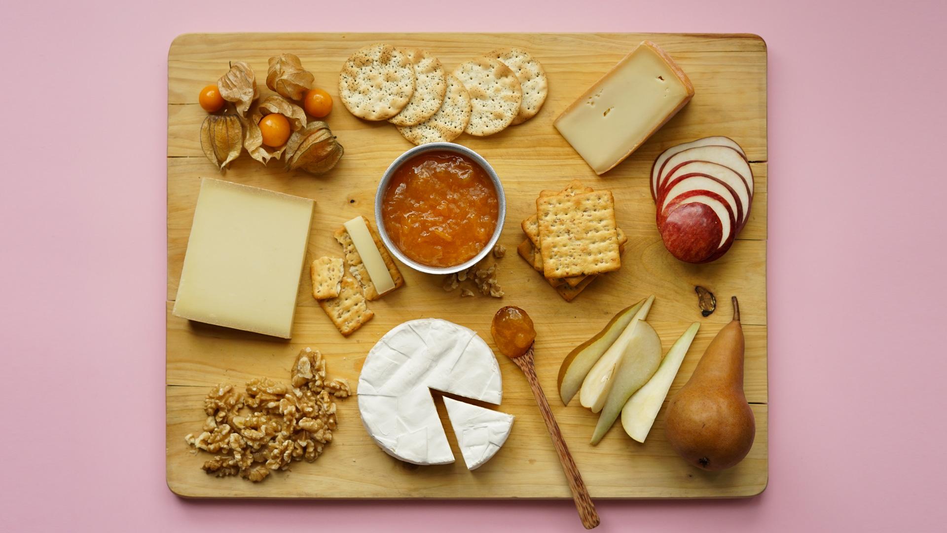 Plateau de fromages fruitier
